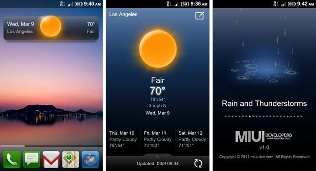MIUI Weather (Beta 1) disponibile al download