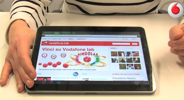 Samsung Galaxy Tab 10.1, la video review di Vodafone