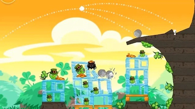 Angry Birds Seasons si tinge di verde per San Patrizio (video)