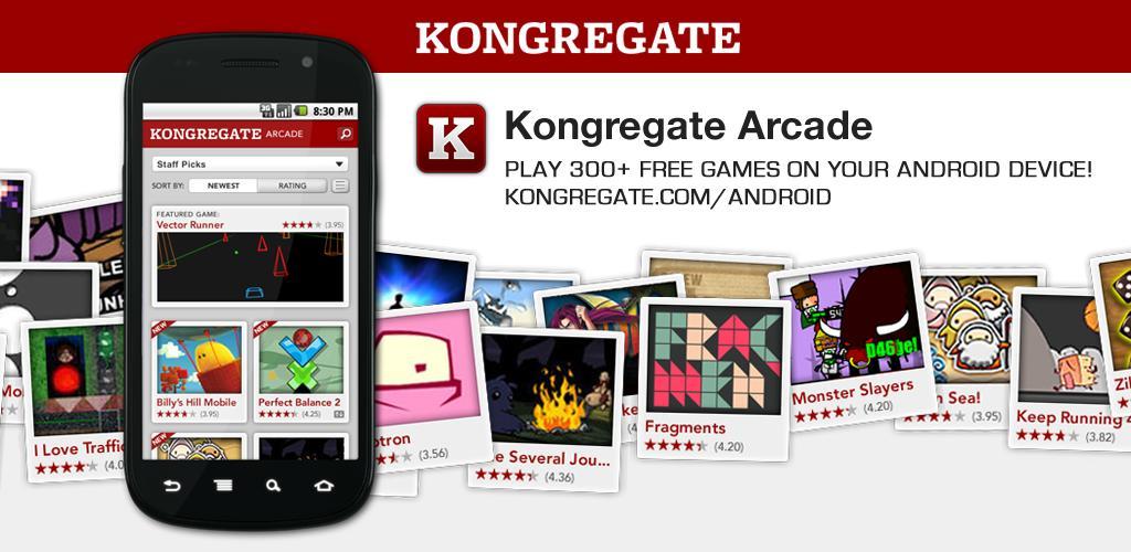 Kongregate Arcade si aggiorna con il supporto ad Honeycomb