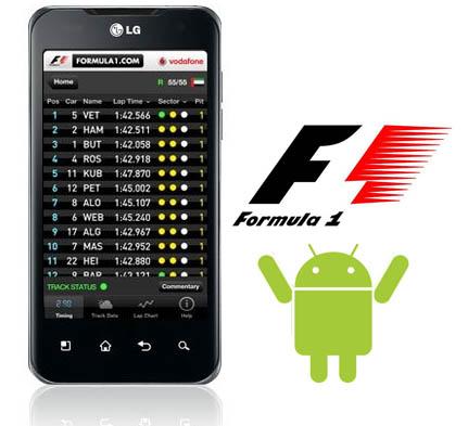 L'applicazione ufficiale della Formula 1 2011 in arrivo su Android