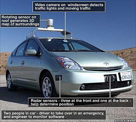 Non solo android ecco l 39 auto di google che si guida da for L auto che si guida da sola