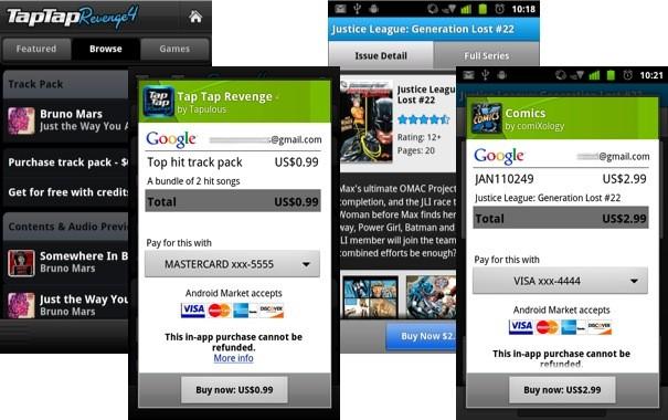 I pagamenti in-app arrivano in Android Market