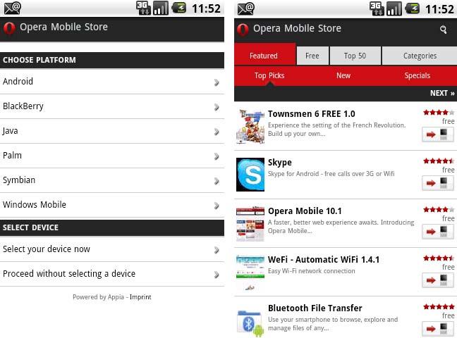 Opera lancia il suo App Store per Android (ed altre piattaforme)