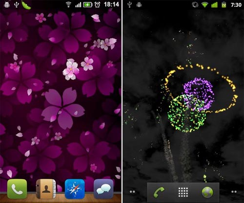 Sakura Falling e Skyrocket, due Live Wallpaper dal GO Dev Team