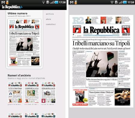 La Repubblica+, l'applicazione ufficiale del quotidiano ora su Android