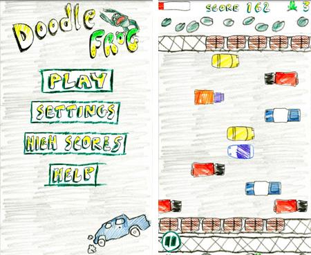 Doodle Frog, un clone di Frogger dalla grafica in stile 'scarabocchio'