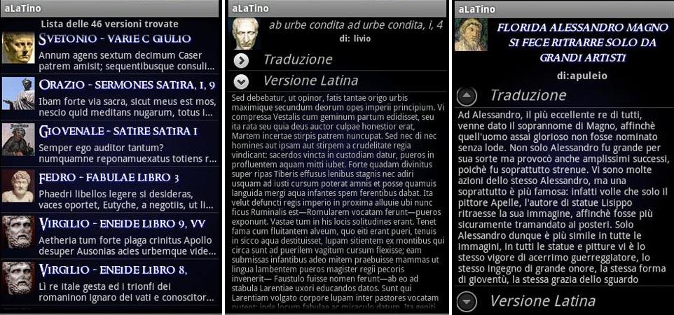 aLatino - traduttore di versioni