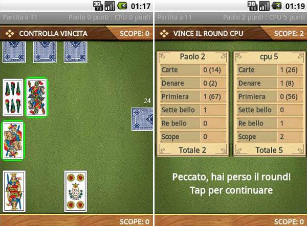 AssoPigliaTutto: l'omonimo gioco di carte su Android