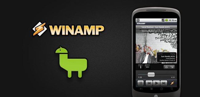 Winamp on Android Market