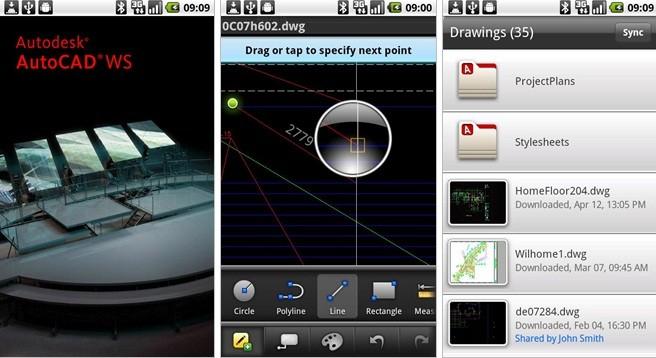 AutoCAD WS rilasciato in Android Market