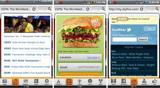 Rilasciato SkyFire 4.0 per Android