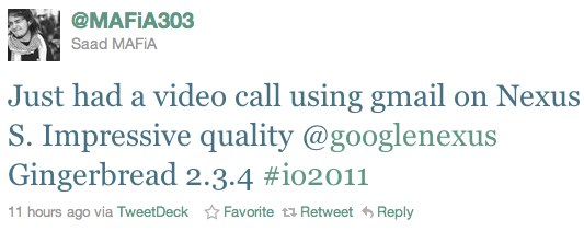 Android 2.3.4 introdurrà la videochiamata con GTalk?