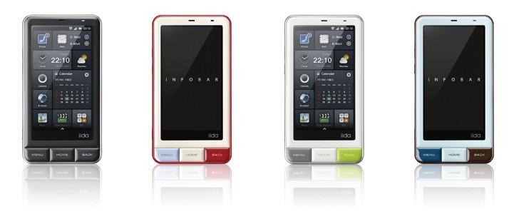 "KDDI iida INFOBAR A01 con display da 3.7"" qHD e Android 2.3"