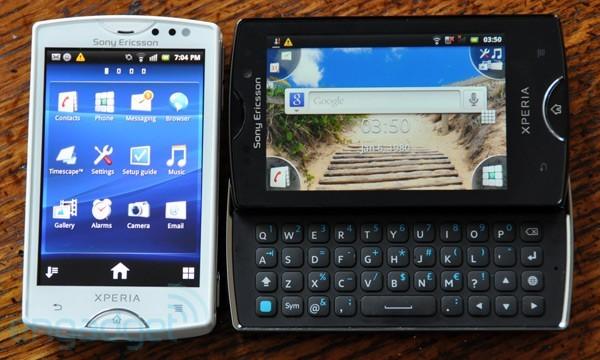 Sony Ericsson Xperia Mini e Mini Pro: hands-on
