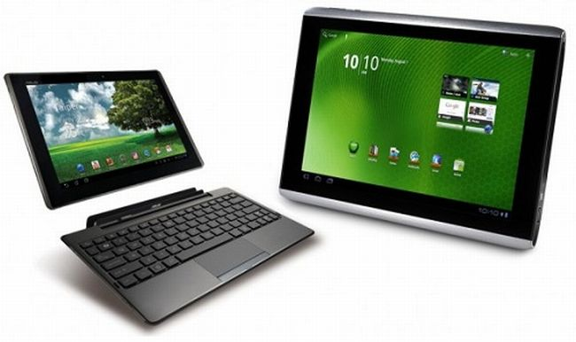 ASUS Eee Pad Transformer e Acer Iconia A500: Android 3.1 a Giugno
