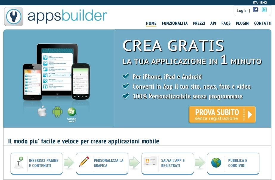AppsBuilder: applicazioni personalizzate per Android in 3 passaggi