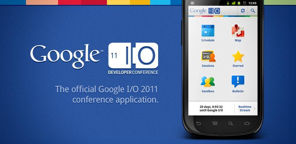 Google I/O 2011: disponibile l'applicazione ufficiale per Android