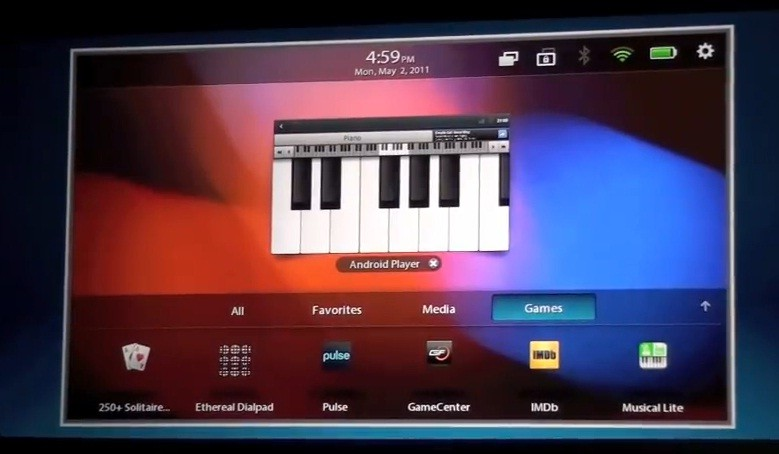 Video: applicazioni Android in esecuzione sul BlackBerry PlayBook