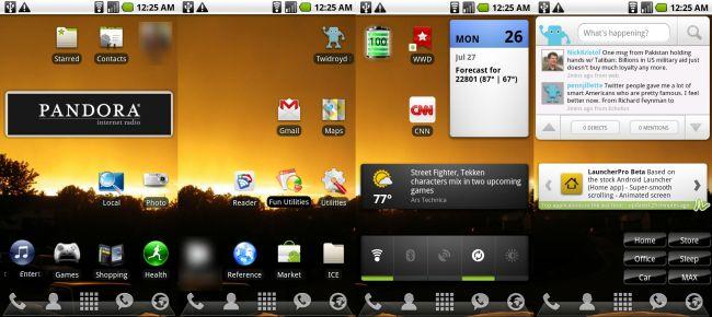 LauncherPro, aggiornamento alla versione 0.8.6