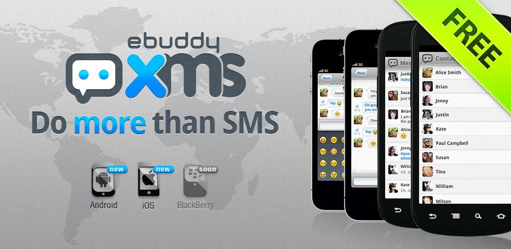 eBuddy XMS, e invii messaggi gratuiti tra Android e iOS