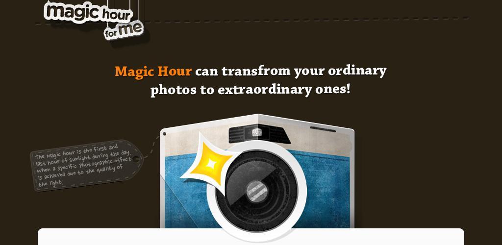 Magic Hour, infiniti filtri ed effetti per le vostre fotografie