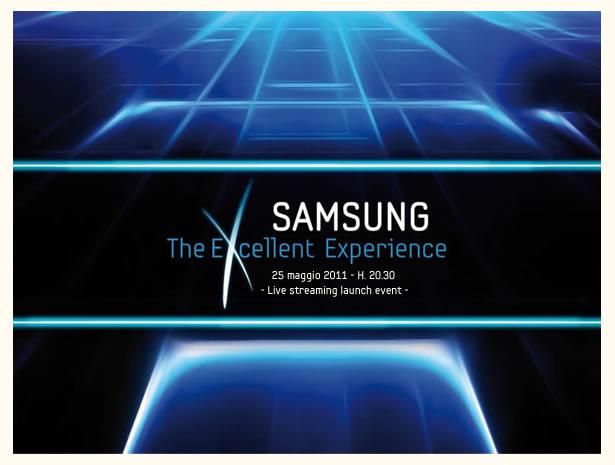 Samsung Galaxy S II, il 25 Maggio la presentazione in live streaming