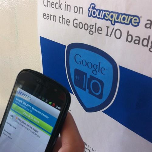 Foursquare sperimenta i checkin con NFC al Google I/O