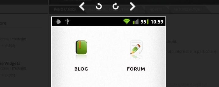 Android Market Web si aggiorna con la rotazione degli screenshot