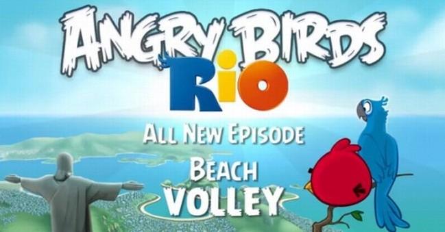 Angry Birds Rio si aggiorna con il nuovo episodio Beach Volley