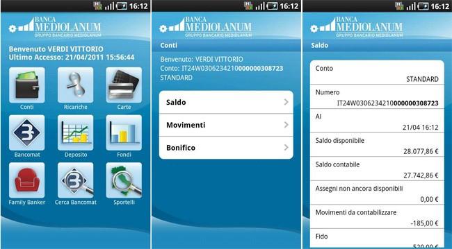 Mediolanum, disponibile l'applicazione ufficiale dell'omonima banca