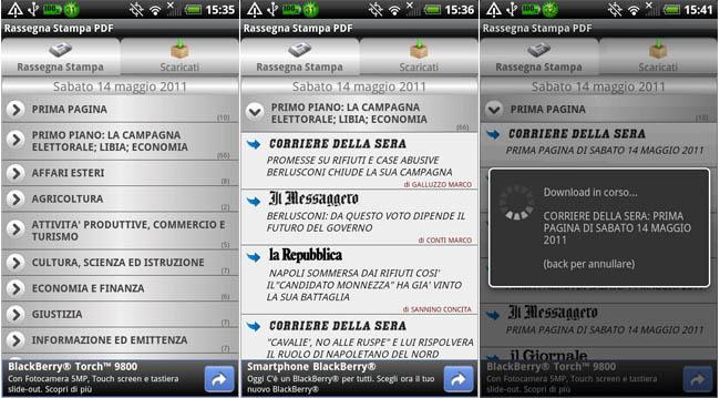 Rassegna Stampa PDF, la rassegna stampa dei giornali italiani in PDF