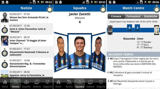I-Inter: l'applicazione ufficiale della F.C. Internazionale