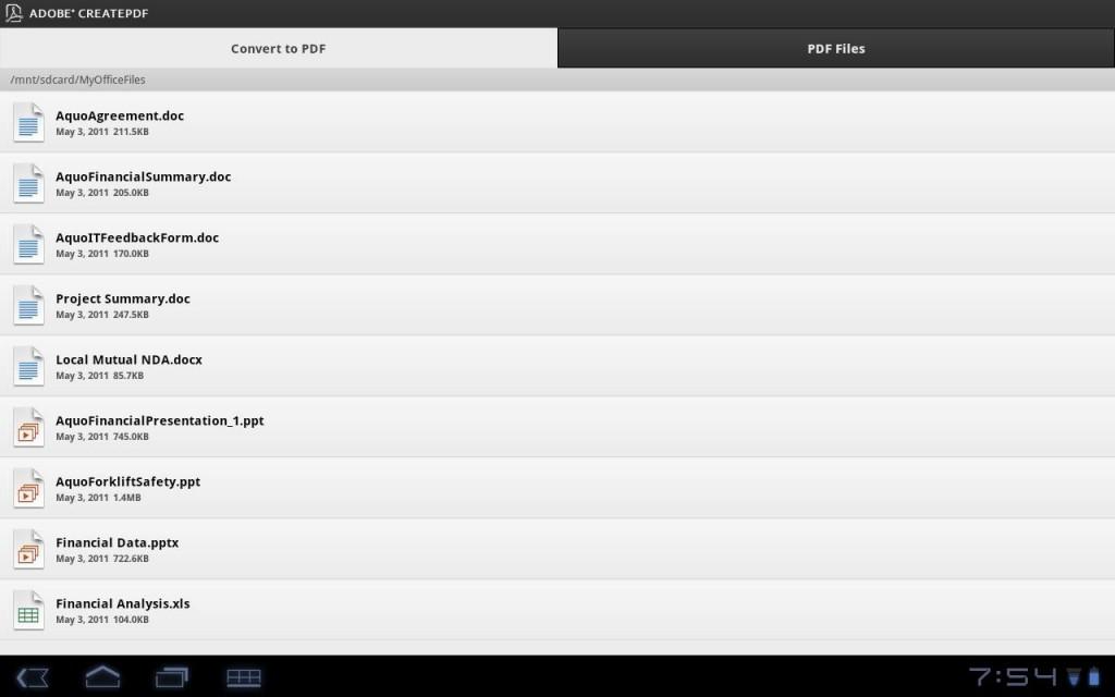 Adobe rilascia CreatePDF per Android