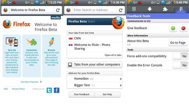 Mozilla rilascia Firefox Beta 5.0