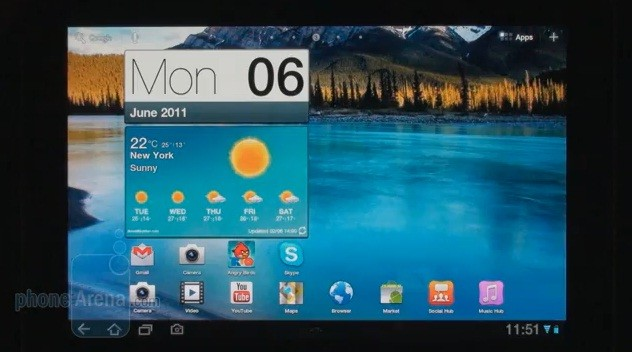 Samsung TouchWiz UX per tablet Honeycomb (video)