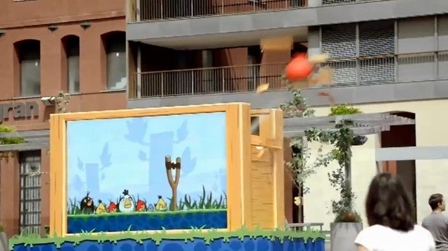 Angry Birds dal vivo in Barcellona (video)