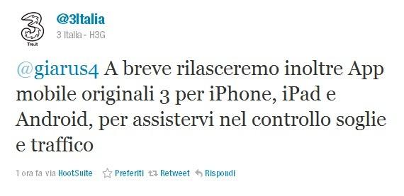 3 Italia, presto l'applicazione ufficiale per il controllo soglie e traffico