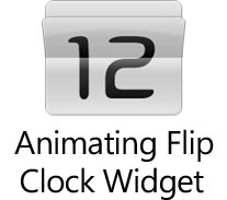 Animating Flip Clock Widget si aggiorna, più stabile e migliorato