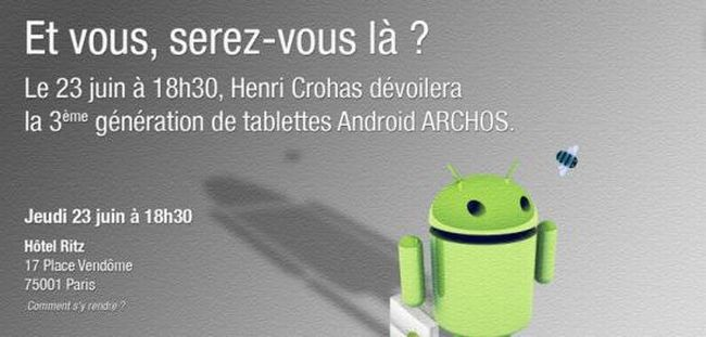 Archos, la nuova generazione di tablet Honeycomb svelata il 23 giugno