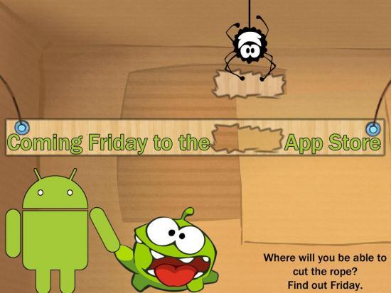 Cut the Rope: venerdì il rilascio su Android. Ma non per l'Europa!