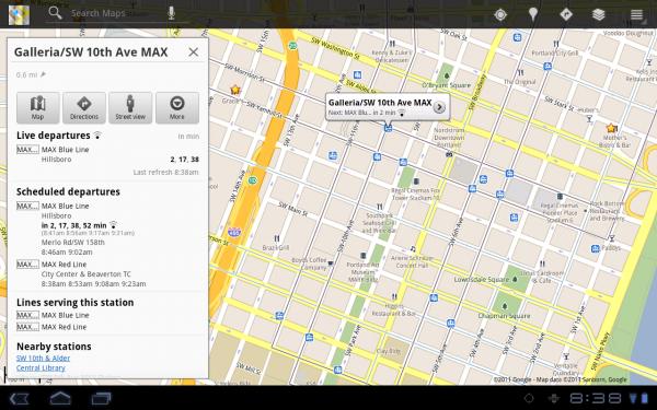 Google Maps Live Transit: trasporti pubblici in tempo reale