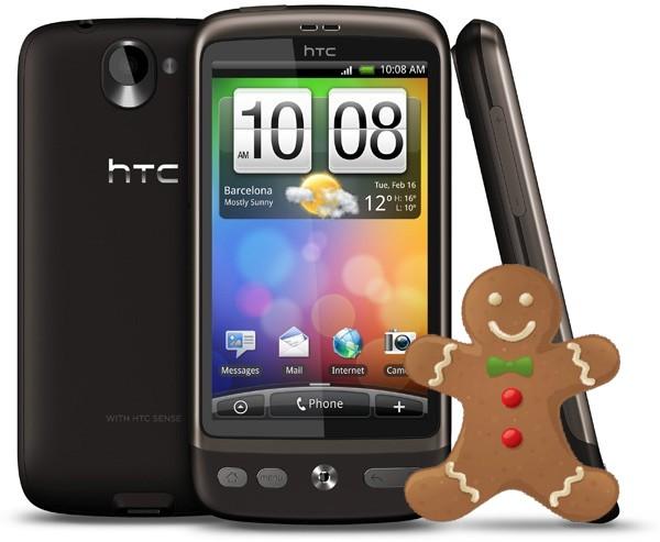 HTC Desire, iniziato il test dell'aggiornamento a Gingerbread