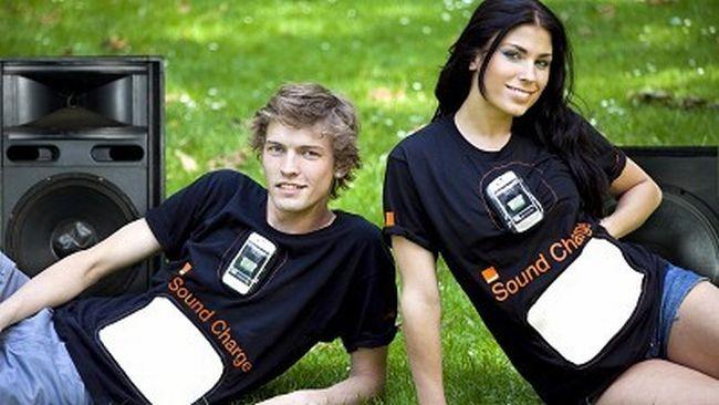 Orange Sound Charge: la maglietta che ricarica il cellulare con i suoni