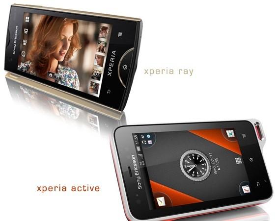 Sony Ericsson annuncia Xperia Ray e Xperia Active