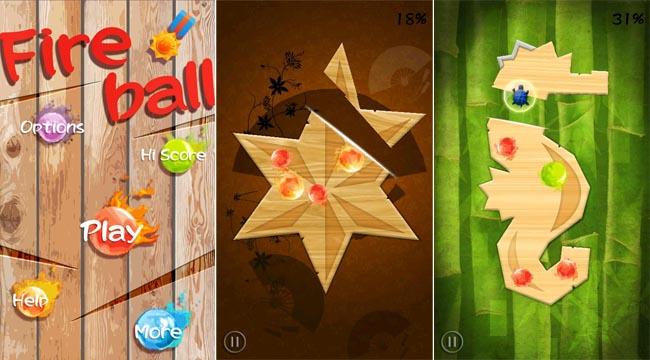 FireBall: taglia il legno ed evita le sfere di fuoco
