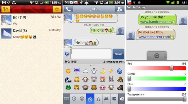 Handcent SMS si aggiorna alla versione 3.9.5, diverse le novità