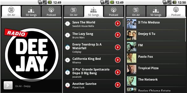 Radio Deejay, l'applicazione ufficiale disponibile per Android