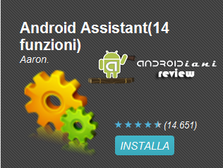[ANDROIDIANI REVIEW] Android Assistant (14 funzioni)
