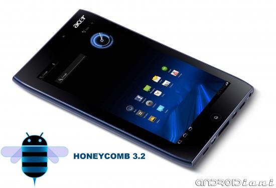 Acer Iconia Tab A100 arriverà a Settembre con Honeycomb 3.2